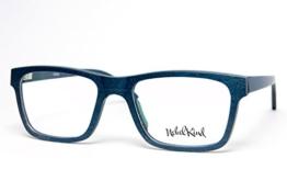 Nebelkind Echt Holz-Brille aus Ahorn Smooth inkl. Bambus-Etui dunkelblau mit Sehstärke klar unisex -